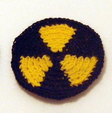 Custom Made Radioactive Patch In Black And Yellow Acrylic