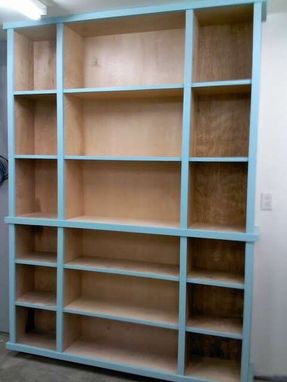 Custom Made Bookshelf And Pantry