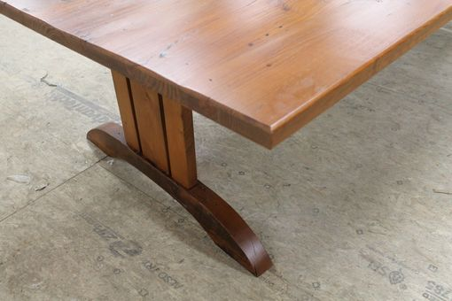 Hand Made Mission Style Trestle Base For Dining Table By
