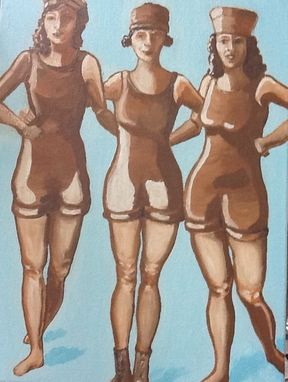 Custom Made Vintage Sepia Swimmers