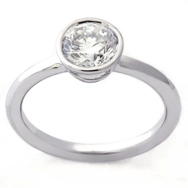 Custom Made 0.75ctw Round Cut Solitaire Diamond Engagement Ring And Matching Wedding Band R202s