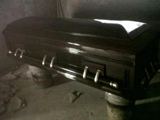 Custom Made Metallic Mahogany Casket