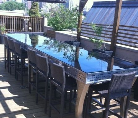 Custom Made Chicago Stainless Bar Table