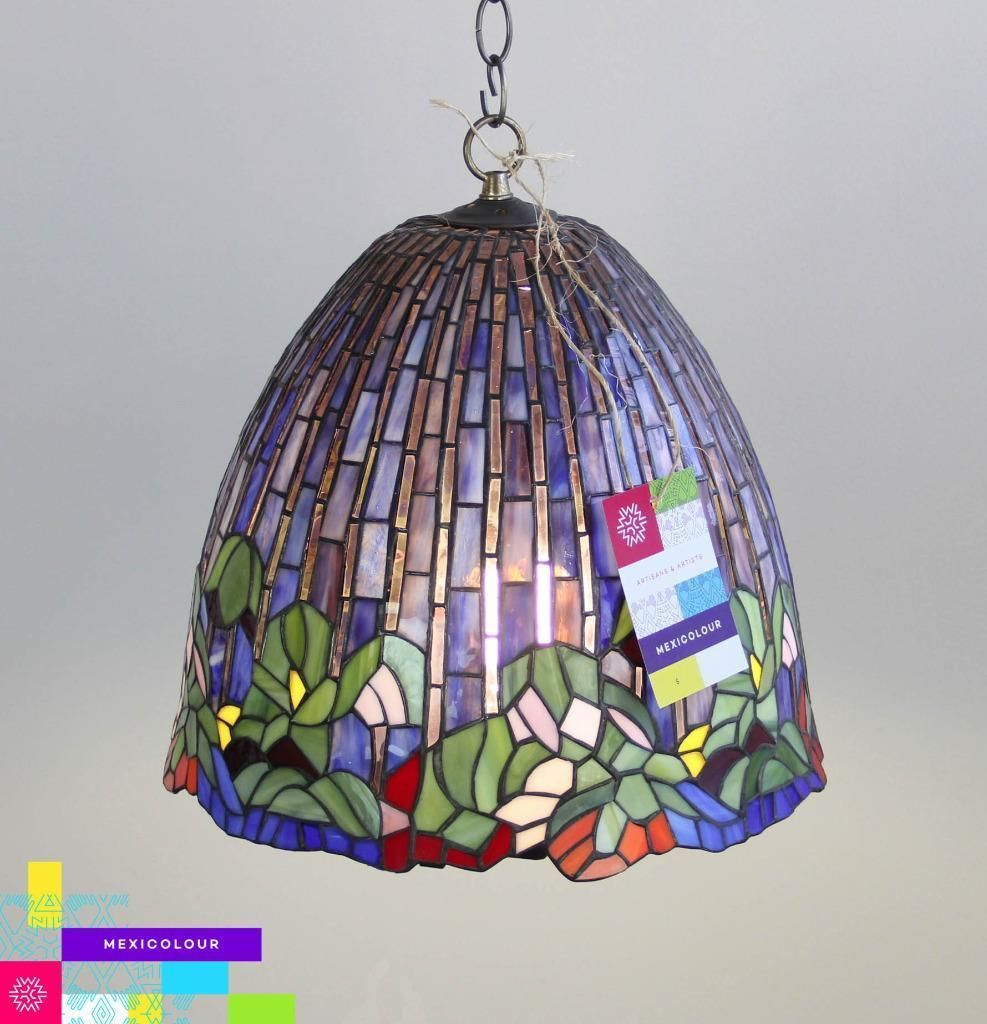 Buy A Custom Lotus Flower Tiffany Style Stained Glass Lamp Shade