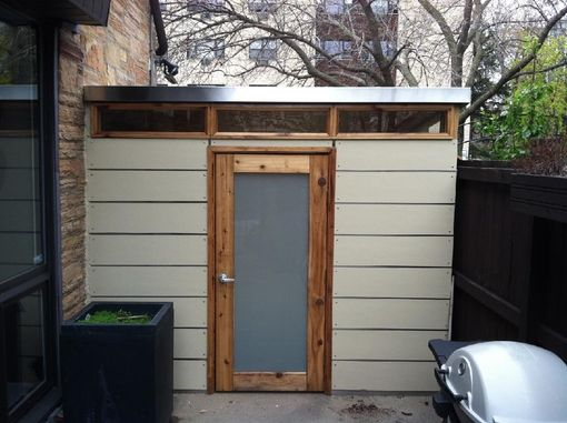 Custom Made Custom Shed Made Of Cement Board And Stainless Steel