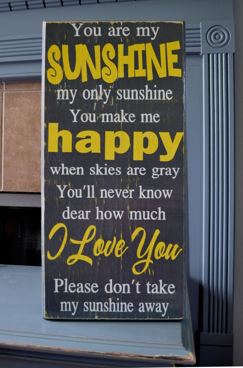 you are my sunshine subway sign custom wood sign home decor childrens decor