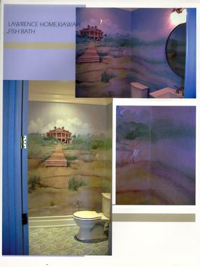 Custom Made Bathroom House Mural