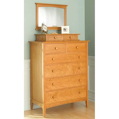 Custom Made Shaker 6 Drawer Dresser