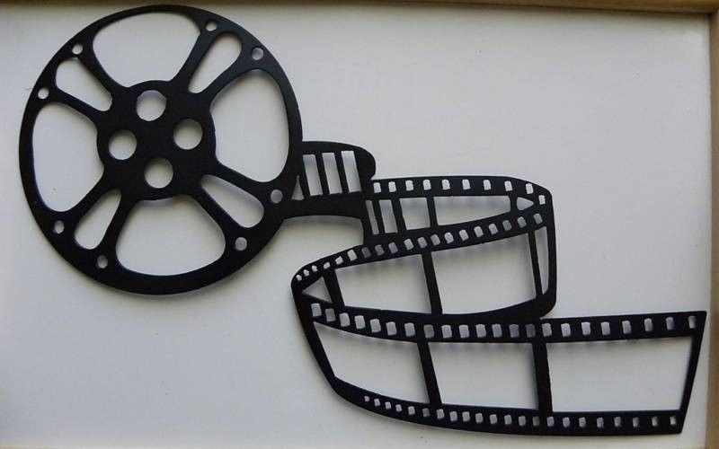Custom Made Metal Wall Art Movie Theater Home Decor Movie Reel