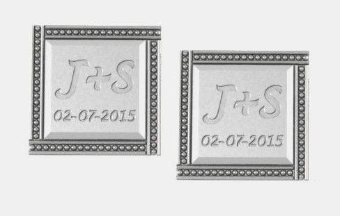 Custom Made Special Date & Initial Cufflinks