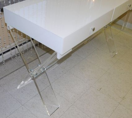 Custom Made Desk - X Base Frame With Slab Top Or Drawered Top- Hand Crafted Made To Order, Custom Sized