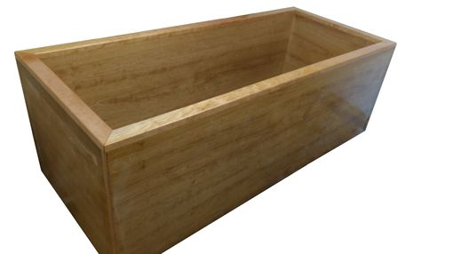 Custom Made Freestanding Rectangular Wood Bathtub In Cherry