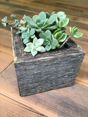 Custom Made Reclaimed Wood Planter/Succulent Box