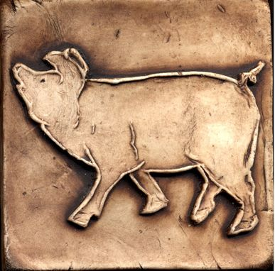 Custom Made Farm Animals -- Pig Tiles