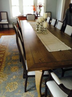 Custom Made Rustic White Oak Dining Table
