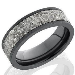 meteorite and zirconium band by serge depoyan - Meteorite Wedding Rings