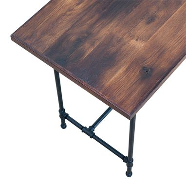 Custom Made Reclaimed French Oak Industrial Style Desk