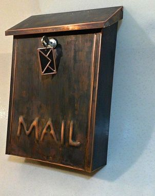Custom Made Wall Mount  Patina Copper Mailbox