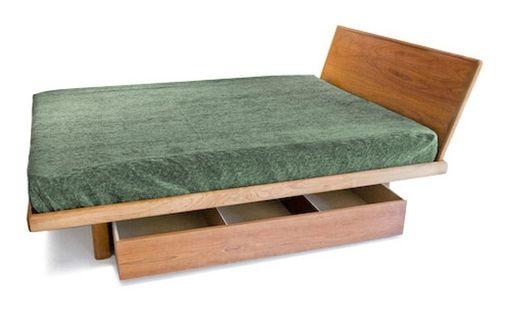 Handmade Floating Platform Bed Frame Only By Bedworks