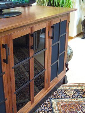 Custom Made Mahogany Tansu Entertainment Cabinet