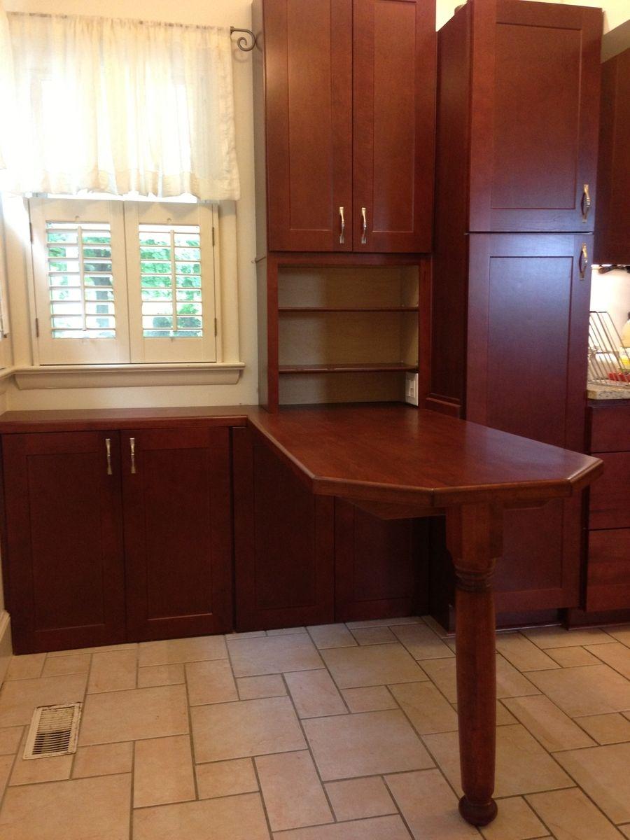 Handmade Custom Breakfast Table & Cabinets by PARZ Designs ...