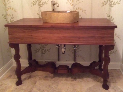Custom Made Walnut Vanity