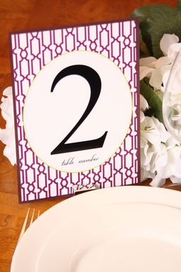 Custom Made Modern Wedding Table Numbers, Place Cards, Programs