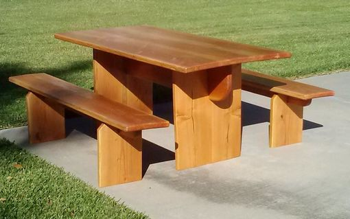 Custom Made Indoor/Outdoor Trestle Table And Benches
