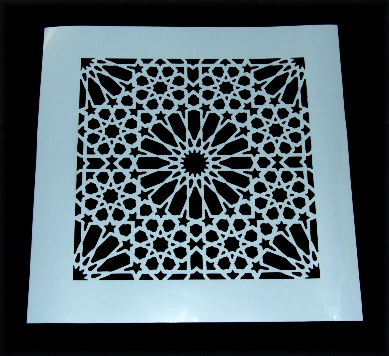 Custom Made Damask Moroccan Tile Pattern Mylar Stencil Laser Cut
