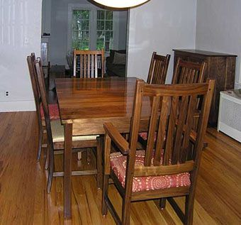 Custom Made Walnut Craftsman Dining Room