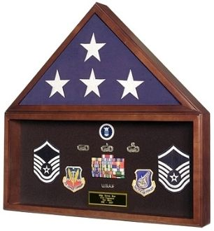 Custom Made Large Flag And Memorabilia Display Cases