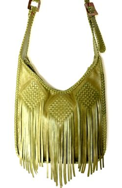 Custom Made Fringe Hobo / Bohemian Style In A Classic Leather Handbag