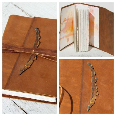 Custom Made Bound Leather Journal Handmade Adventure Western Travel Dairy Watercolor Art Notebook