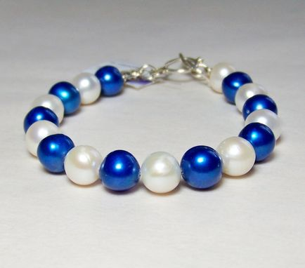 Custom Made Pearl Bracelet With Sterling Silver