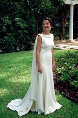 Custom Made Backless Silk Crepe  Trumpet Bridal Gown