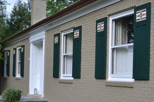 Custom Made Arts & Crafts Style Shutters