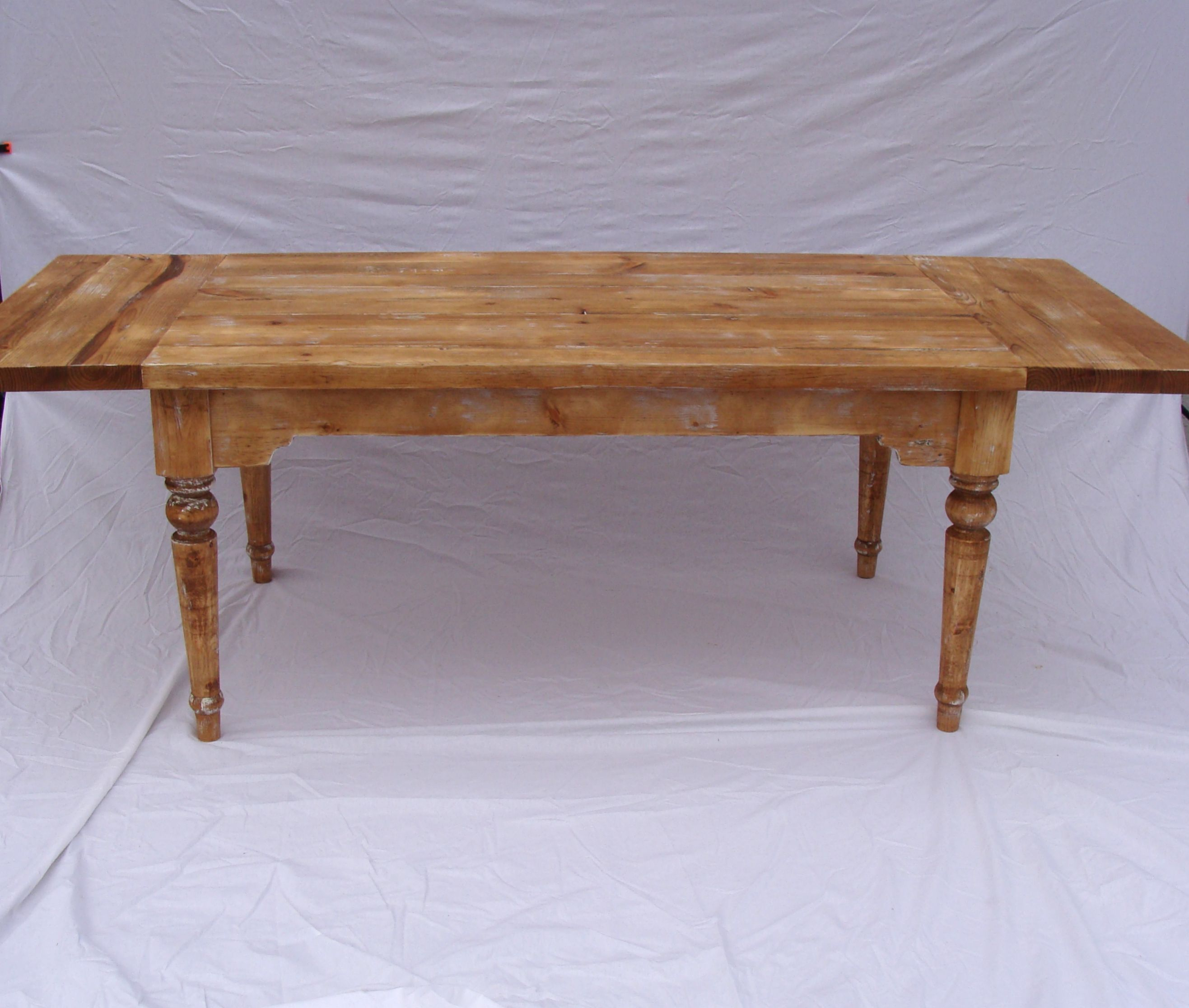 Picture of: Hand Crafted Antique Style Farm Table With Drop Leaf Extensions On Sale By Custom Timber Llc Custommade Com