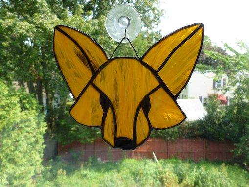 Custom Made Stained Glass Fox In Reddish Brown