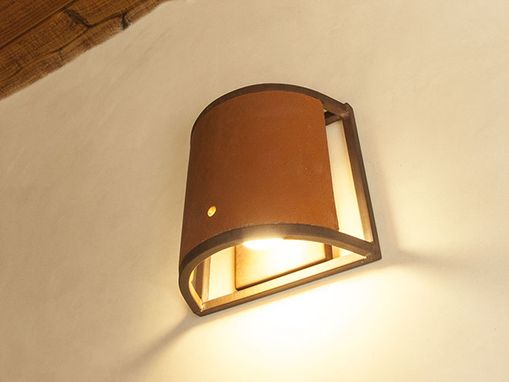 Custom Made Mission Tile And Steel Sconce Lamp