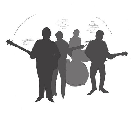 Custom Made Illustration - Beatles Silhouette