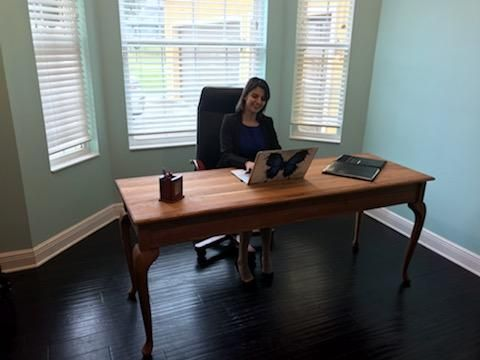 Custom Made Solid Cherry Desk With Queen Anne's Legs