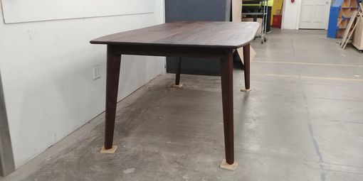 "Custom Made ""Santa Barbara"" Style M/C Danish Modern Walnut Dining Table"