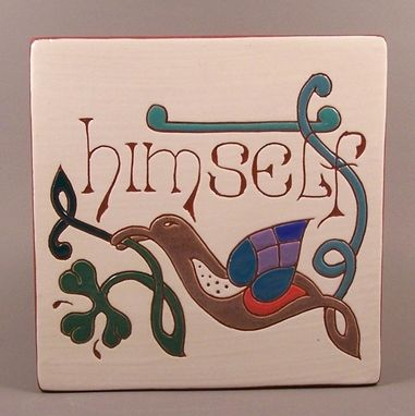 Custom Made 'Himself' Celtic Tile Trivet