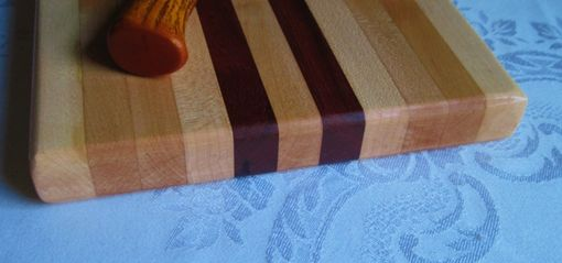 Custom Made Handcrafted Maple And Purpleheart Wood Cutting - Cheese Board