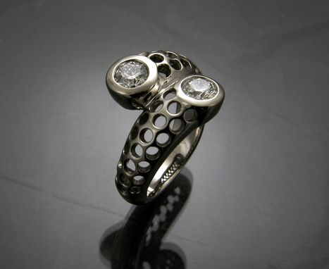 Custom Made 14k White Gold Diamond Ring