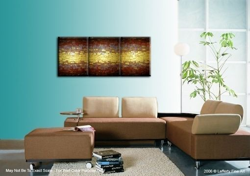 Custom Made Original Abstract Metallic Painting, Textured Gold Painting, Textured Palette Knife Art, 24x54