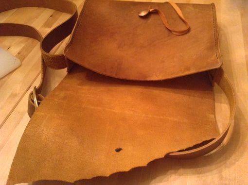 Custom Made Natural Edge Satchel