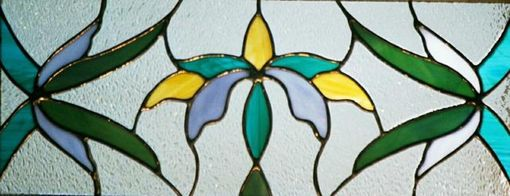 Custom Made Art Deco Long Stained Glass Window
