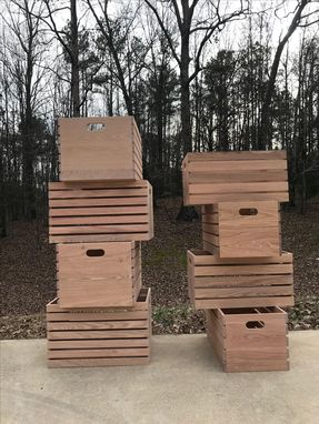 Custom Made Solid Red Oak Crates