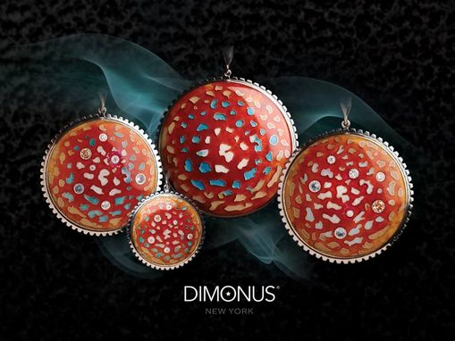 Custom Made Red Amanita Muscaria Cap Pendant